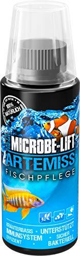 MICROBE-LIFT Artemiss - Kräuterbasierendes Pflegepräparat zur optimalen Unterstützung des Immunsystems bei Fischen in jedem Meerwasser- & Süßwasseraquarium, 118ml