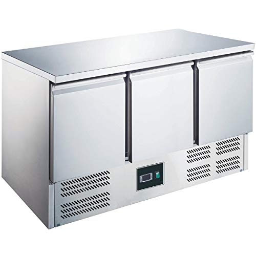 ZORRO - Kühltisch ZS903-3 Türen - Gastro Saladette mit Arbeitsfläche - R600A Digitales Thermostat