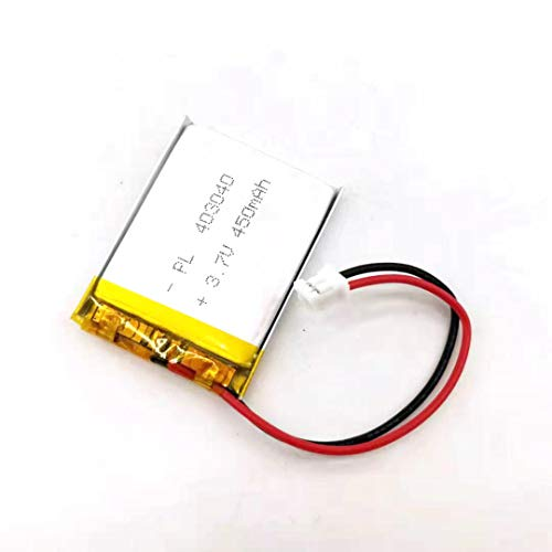 MSDS Verified Part Number: 403040, Rechargeable 3.7V 450mAh Li Lipo Lithium Polymer Ion Battery Pack with 2 Pin 2.0mm JST Connector