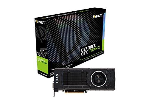 Palit GTX-Titan-X NE5XTIX015KBF NVIDIA Grafikkarte (PCI-e, 12GB GDDR5 Speicher, DVI, HDMI, DisplayPort)