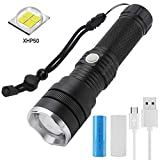 Torche Lampe de Poche LED rechargeable, FAGORY 2000 Lumens tactique Ultra puissante...