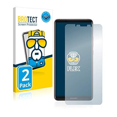 brotect Pellicola Copertura Completa Compatibile con Huawei Mate 10 PRO (2 Pezzi) Full-Cover 3D Curvo