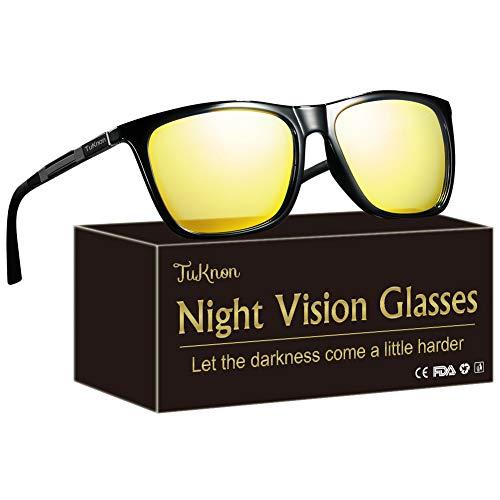 TUKNON Lunettes de Vision Nocturne pour Conduite de Nuit Lunettes Anti-éblouissement Lunettes Polarisées