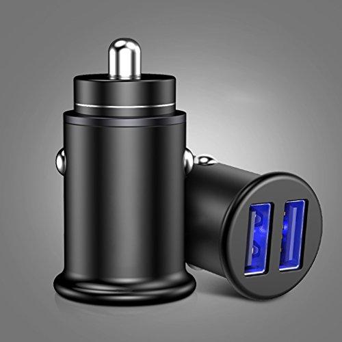 GQY Chargeur de Voiture Chargeur de téléphone Portable Voiture de Charge Rapide USB avec Multi-Fonction Un remorquage Deux Allume-cigares Type Universel (Couleur : Noir)