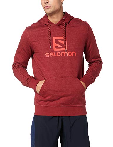 SALOMON Herren Logo Hoodie, Rot (Biking Red), XXL