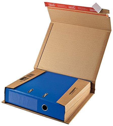 ColomPac CP050.01 Ordnerverpackung aus Wellpappe mit Selbstklebeverschluss und Aufreissfaden, braun