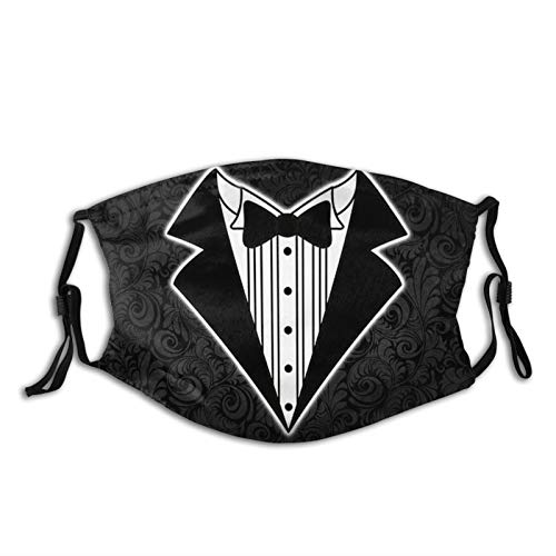 Wedding Tuxedo Tux Groom Face Mask Unisex Washable Reusable Balaclava Dust Filter And Reusable Mouth Windproof Cotton Scraf