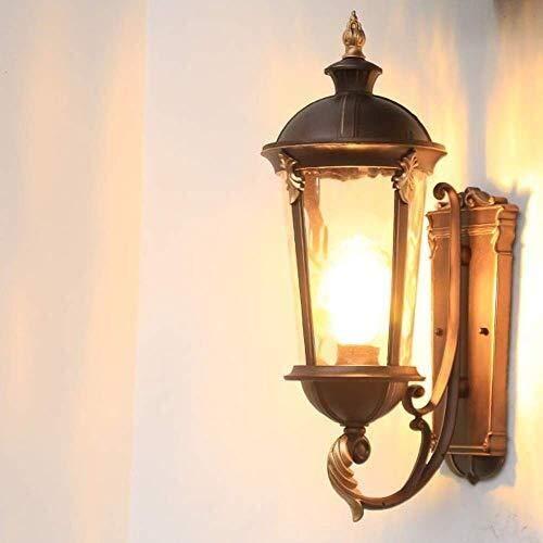 WZXCAP E27-verlichtingslichaam creatieve patio-tuin gang buitenwandlamp lantaarn buiten Villa Terras hof deur deco waterdicht aluminium glazen wandlamp