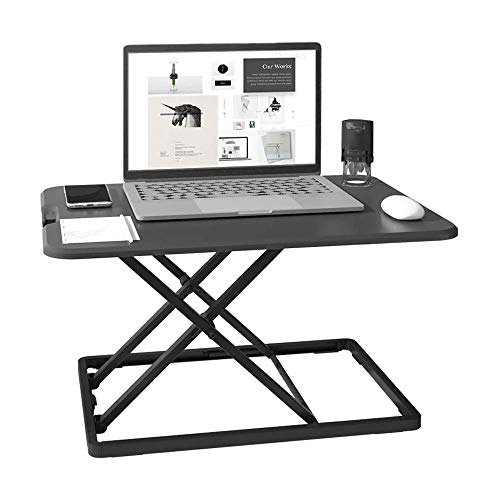LKNJLL Desk-mounted Office Lifting Workbench, Sitting and Standing Alternately,Foldable Laptop Desk, 6-level Adjustable Height, Monitor Stand for Home and Office