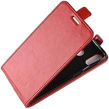 Wallet Cases - Retro Leather Cover case for for Asus Zenfone Max M1 ZB555KL Pro ZB601KL Live L1 ZA550KL Wallet flip leather cases fundas> (R6S RD for Asus ZA550KL)