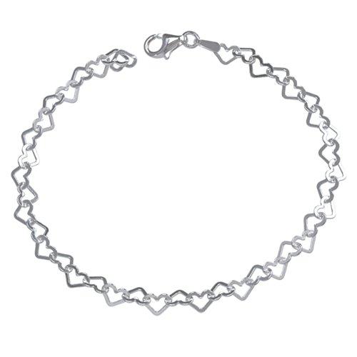 Vinani Herz Armband Bettelarmband für Charm Anhänger Italien hochwertig Sterling Silber 925 BCH