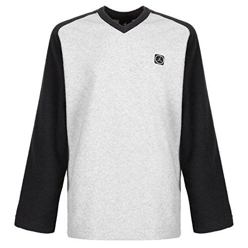 Nike Air Jordan Kids/Jungen Langarm-V Kragen Top Beige/Schwarz RRP £ 29,99