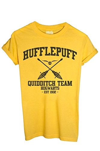 MUSH T-Shirt Hufflepuff Quidditch Harry Potter - Film by Dress Your Style - Herren-L-Gelb
