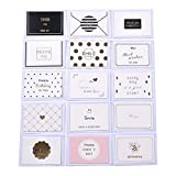 30 juegos de lindas tarjetas de felicitación en blanco con sobres - Paquete múltiple para todas las ocasiones Tarjetas de cumpleaños Tarjetas de agradecimiento (101)