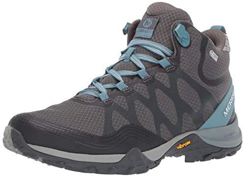 Merrell Women's Siren 3 MID Waterproof Hiking Shoe, Blue Smoke, 07.0 M US