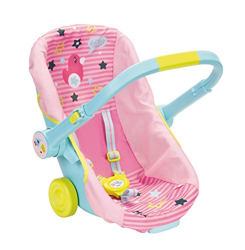 Zapf Creation 824412 BABY born Schalensitz mit Rädern und 3-in-1-Funktion, Puppen Zubehör 43 cm, Einheitsgröße