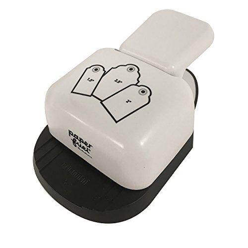 Vaessen Creative Perforadora Manual de Papel 3 en 1, Diseño de Etiquetas, Blanco, 14 x 8 x 5 cm