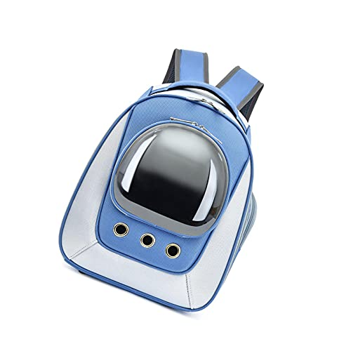 litulituhallo Gato Bolsa Transportín para Mascotas Transporte Azul pa?o De Oxford 40 (Alto) * 30 (Ancho) * 24 (Grosor) Cm