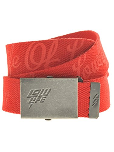 Lowlife of London Ceinture Homme - Rouge - Rouge - Taille unique (Taille Fabricant: One Size)
