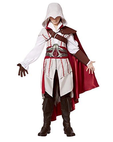Spirit Halloween Teen Ezio Costume - Assassin's Creed, M 8-10, White, M 8-10, White
