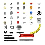 Yovso Technic - Kit di ricambio per la tecnica del cliente, 356 pezzi, componenti tecnici, ingranaggi differenziali, compatibile con Lego Technic