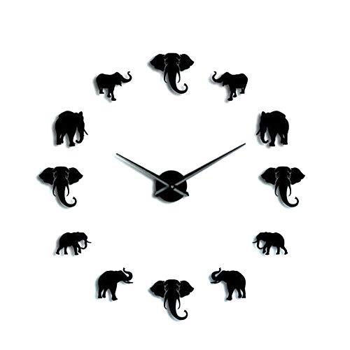 Wosune Reloj de Bricolaje, Reloj de Elefante, Caja Fuerte Lujosa del Efecto Decorativo del Estilo Moderno Impermeable para la Oficina en casa