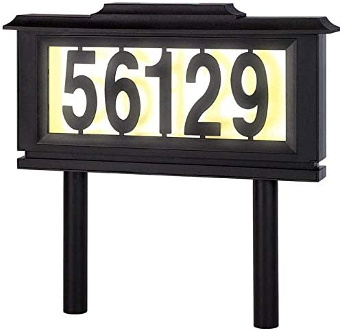 Solar Lighted Credence Address Numbers Award-winning store Signs for or L Houses LED Yard