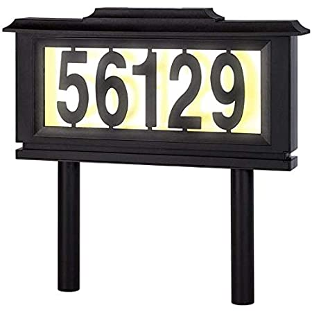 Solar Lighted Address Numbers Signs for Houses or for Yard LED Light up House Numbers