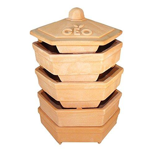 GEO Terradisiena-Germoir in poterie, Brun, 19x19x31 cm
