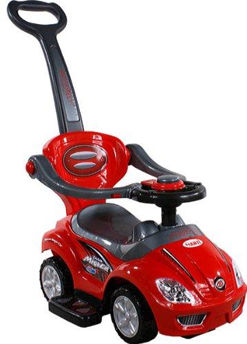 BSD Baby Car - Auto per Bambini 381 Mega Car Deluxe Red - Spingere - Giocattolo da Tirare - Ride-On - Attivita Giocattolo