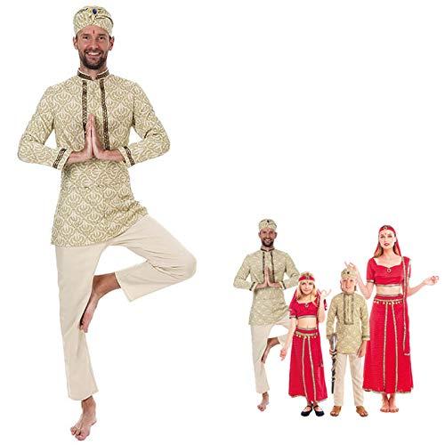 Disfraz Hind Hombre Fakir Turbante BollywoodTallas Adultos de S a L[Talla L] Disfraz Carnaval Hombre Nacionalidades Sari Indio Prncipe rabe Turbante Fiesta Actuaciones Desfiles Festivales