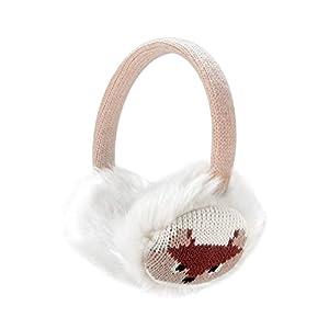 Sudwave Womens Girls Winter Fashion Adjustable Faux Fur EarMuffs Cartoon Ear Warmers