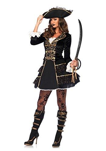 Leg Avenue 2Pezzi Set Alto Lago di Pirata Capitano, Donna Carnevale Costume di Carnevale