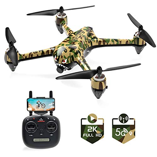 SNAPTAIN SP700 GPS Drone with Brushless Motor, 5G WiFi FPV RC Drone for Adult with 2K Camera Live Video, Follow Me, APP Control, GPS RTH, Point of Interest, One Key Functions, Headless Mode