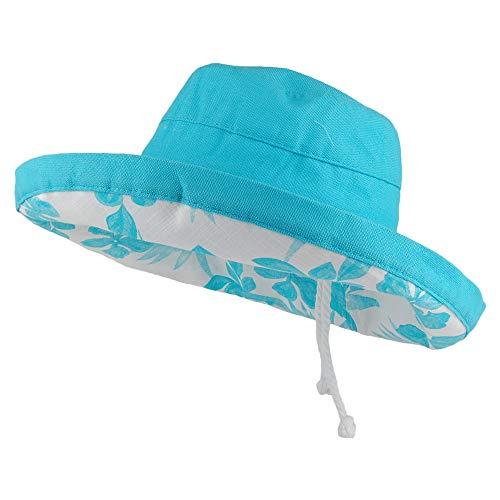 SCALA Aninata Packbarer Sonnenhut aus Baumwolle - Himmelblau - One Size