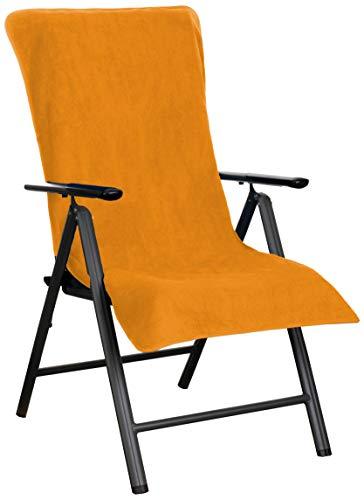 Brandsseller Hoes voor badstof voor tuinstoel en ligstoel en als strandligkussen - van 100% katoen - verschillende kleuren oranje