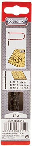 Connex Laubsägeblatt Holz Zarsa sortiert 24 Stück, COXT806015