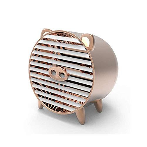 Chenbz Acondicionador de aire portátil de ventilador pequeño ventilador de la bruma personal con Enfriamiento Rápido ventilador de la bruma for la sala de Oficina Cocina (Color: Oro, Tamaño: 8x13.5cm)