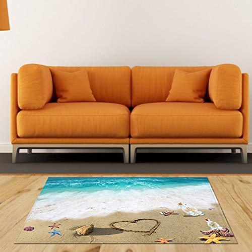 WYANG Antislip vloermatten bureaustoel vloermatten tapijten badkamer keukenmat strandflespatroon