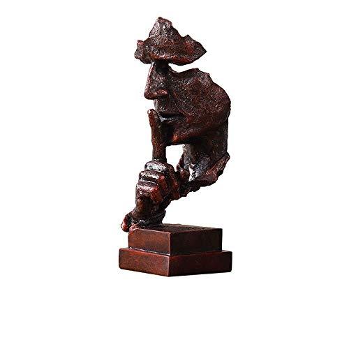 YANRUI Charakter Skulptur Stille Abstrakt Gesicht Statue Harz Handwerk Desktop-Dekoration Möbel Büro Wohnzimmer Heim-Kunst-Dekorationen 32,5 * 10cm (Color : D)