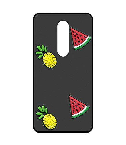 Sunrive Für TP-LINK Neffos X1 Lite Hülle Silikon, Handyhülle matt Schutzhülle Etui 3D Case Backcover für TP-LINK Neffos X1 Lite(W2 Wassermelonen-Ananas) MEHRWEG+Gratis Universal Eingabestift