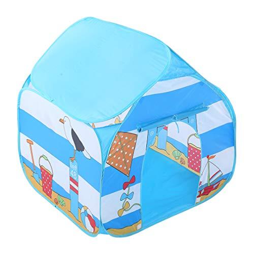 Draagbare kinderen tenten, kinderen speelgoed tent kamp tenten kasteel speelhuisje ruimte thema opvouwbare kleine prins tent Galaxy spel huis tent kinderen geschenk speelgoed, blauw