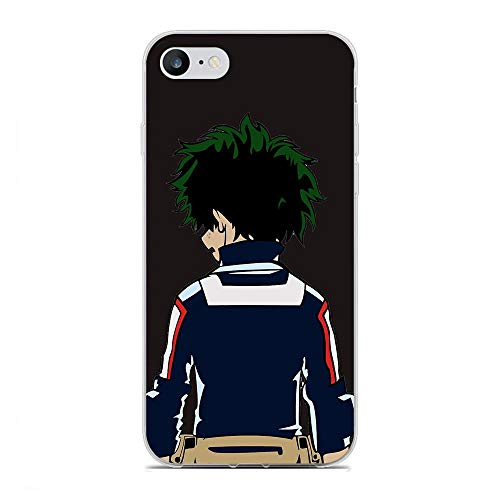 QNNN Transparent Silicone TPU Shockproof Clear Anti-Yellowing Coque Case for Apple iPhone 6/6s-My Hero-Academia Boku-Deku 2