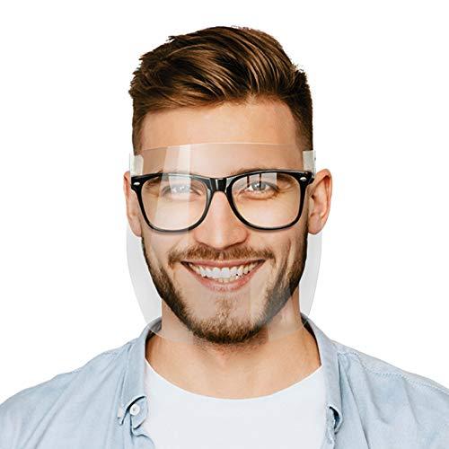 5 Piezas m_ascarillas Transparente a—ntivaho Clip en Gafas, Reutilizables Lavables para Adultos,M_áscara de Vis_era de seg_uridad