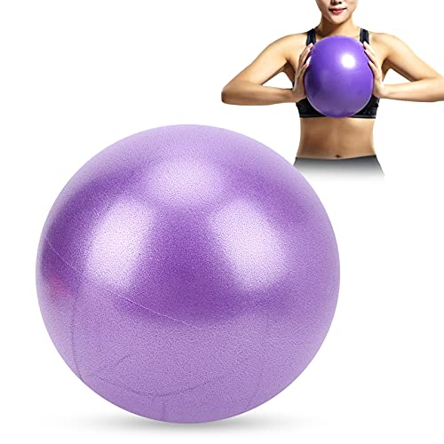 Pelota de pilates, minibola Bender a prueba de explosiones que mejora el equilibrio 25 cm para interiores o exteriores para entrenamiento de core(purple)