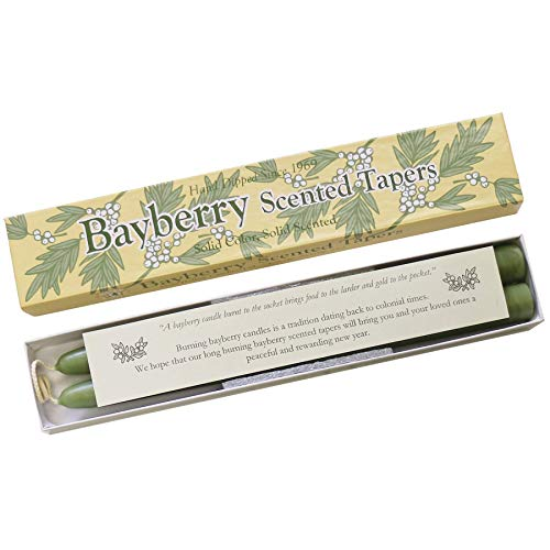 Mole Hollow 10-Inch Bayberry Scented Taper Candles - with Bayberry Candle Legend!