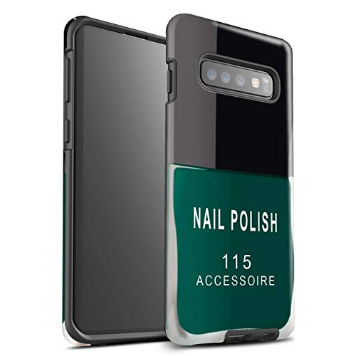 Stuff4® glanzende harde schokbestendige hoes/case voor Samsung Galaxy S10 / groen patroon/nagellak/make-up collectie