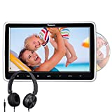 "NAVISKAUTO 10.1"" Car DVD Player with HDMI Input Headphone Headrest Mount Bracket Region Free Last Memory"