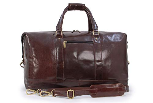 Ashwood Genuine Leather Holdall - Large Overnight/Travel/Business/Weekend/Gym Sports Duffle Bag - 2070 - Cognac