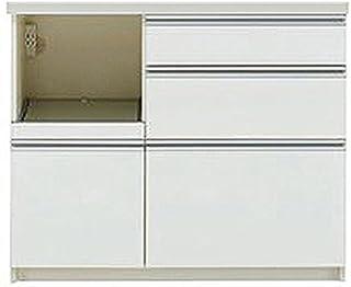 パモウナ 食器棚WL パールホワイト 幅100×高さ85×奥行45 日本製 WLL-S1000R下台